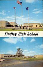 Findlay Ohio 1966 Postcard Findlay High School Mounting of Colors