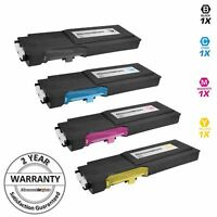 4PK BLACK Cyan Magenta Yellow Toner Set for Dell C2660dn C2665dnf HY Cartridges