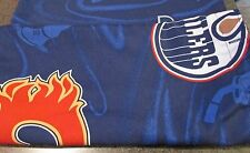 Double 2 Part Shower Curtains NHL Canadian Hockey Teams Maple Leafs Flames Oiler