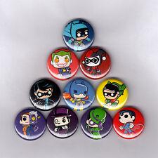"""BATMAN DC FUNKO POP 1"""" PINS / BUTTONS (joker harley quinn batgirl penguin toy)"""