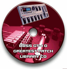 More details for boss gt-10 guitar effects pedals - pre-programmed sounds tone patches cd