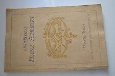 Buch Liederfürst Franz Schubert Wiener Album 1928 Deutsch Englisch