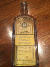 "Vintage ""Watkins"" Imitation Vanilla Extract Large Bottle"