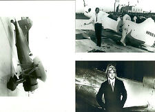 "SET OF 3 - LOT #24  B&W 4X6 PHOTOGRAPHS - RACING AIRPLANES ""MIKE"" & AVIATION"