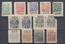 Argentina, Cordoba, Forbin 236//296. 1912-1913 Documentary Fiscals, 11 diff