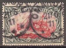 1906 German South West Africa 5 Mark Yacht issue used, Michel # 32 Aa -OMARURU-