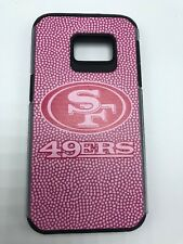 San Francisco 49ers Pink Football Pebble Leather Grain Samsung Galaxy S7 Hard