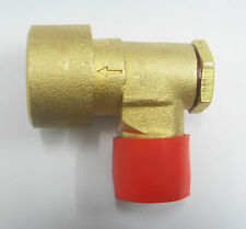 "GAS BAYONET BRASS SOCKET ELBOW ANGLED 1/2"" FOR GAS COOKER HOSE FITTING"