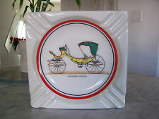 PICCOLOMINI CALECHE Ceramic Old Buggy Ashtray Old Fashioned Greetings A L Little