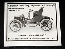 1904 OLD MAGAZINE PRINT AD, CONVERT MOTOR VEHICLE CO, THE CONVERT CHAINLESS CAR!
