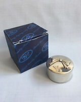 Vintage Edwin Blyde & Co. bow design pewter trinket box 60mm - New in box