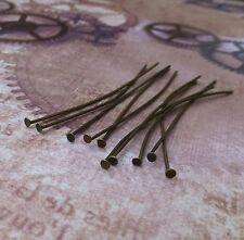 200 Antique Bronze Colour Head Pins 6 cm