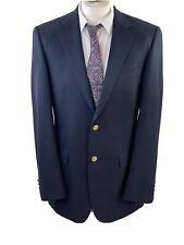 AQUASCUTUM Navy Wool Men's Formal Jacket Blazer Gold Buttons Size 40L