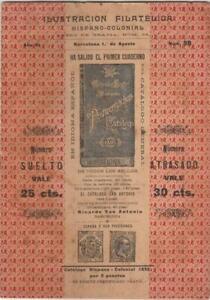 1896 Spain Philippines Ilustracion Filatelica Hispano-Colonial #73-74 Catalog