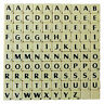 SCRABBLE REPLACEMENT TILES 100 IVORY PIECES PER SET BLACK LETTERS NEW FULL SETS