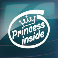 Princess Inside Car Sticker Vinyl Car Bumper Window Decal Removable Auto Deca_AU
