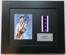 More details for prince signed reproduction with original 35mm film cells