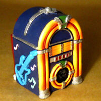 JUKEBOX BOX Wurlitzer Classic Bubbler Style Juke 2pc Container GREAT GIFT! NOS