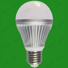 2x 3W LED Ultra Low Energy GLS Globe 4000K White Light Bulbs ES, E27 Screw Lamps
