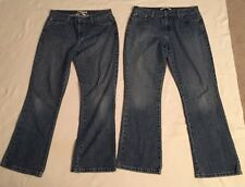 Lot Of 2 Womens Tommy Hilfiger Boyfriend Bootleg Jeans, Size 8