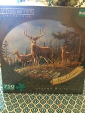 Buffalo Games Hautman Brothers, Autumn Whitetails - 750pc Oval Jigsaw Puzzle NEW