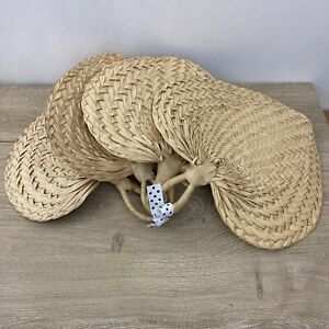 4 NEW WITH TAG Wall DECOR Fans Palm Leaf Wicker  Wall Hanging FANS SET OF 4