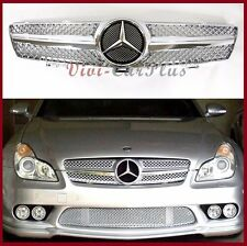 04-08 M-Benz W219 Sedan Chrome Front Grille Hood CLS550 CLS500 CLS350 SL Look