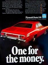 "1973 Plymouth Duster 340 Original Print Ad 9 x 11"""