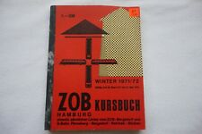 1971 ZOB Kursbuch Hamburg Germany German Railway Bus Timetable Fahrplan