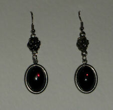Handmade Oval Crystal Costume Earrings