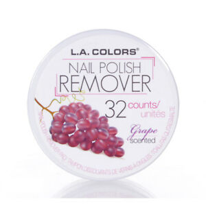 LA Colors Quitaesmalte de Uñas Almohadillas Uva Aroma 32 Cuenta
