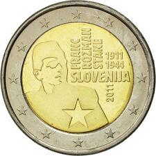 [#466099] Slovénie, 2 Euro, Franc Rozman-Stane, 2011, SPL, Bi-Metallic, KM:100