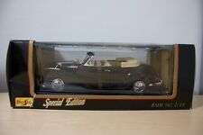 Maisto BMW 502 Die-Cast Mint Boxed 1:18 black tan convertible NEW