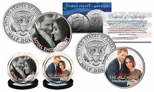 PRINCE HARRY & MARKLE Royal Engagement OFFICIAL PHOTO JFK Half Dollar 2-Coin Set
