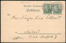 DR-Auslands Ganzsache Mi.-Nr.P50+DR 56, Marburg-Mailand