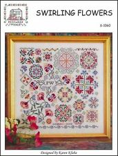 Swirling Flowers by Rosewood Manor S-1060 designs by Karen Kluba/Pamphlet