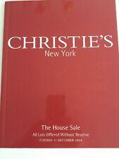 Christie'S CHRISTIES NEW YORK CATALOGO VENDITA LA CASA 21 DICEMBRE 2004