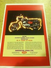 Vintage Jawa Motorcycle Advertisement Poster Home Decor Man Cave Gift