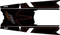 POLARIS RUSH PRO-RMK 600/800 SNOWMOBILE SLED 155 TUNNEL WRAP DECALS STIKERS