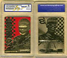 99 Dale Earnhardt Jr. 23 Kt  Budweiser Red Foil Finish Card Gold Signature # 8