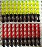 20 Lego Laserschwerter, schwarzer Griff in rot + gelb für Star Wars Minifiguren