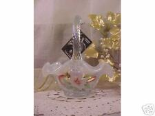 New French Opalescent XMAS BASKET by Fenton Glass