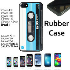 Custom Case for iPhone 6 6S 7 7 Plus+Galaxy S6 S7 S7 Edge+STYLUS-Blue Cassette