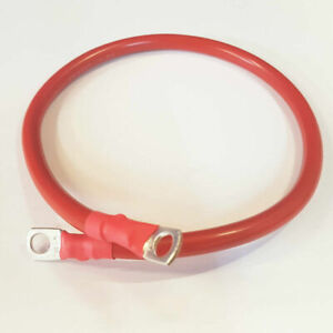 RED Battery Lead Power Strap Earth Bond Leisure Cable Leads - 16mm2 300mm length