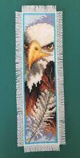 Handmade finished Cross Stitch bookmark Eagle