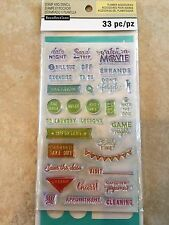 Creative Year Phrases Stamp & Stencil Set By Recollections™ 501852 NEW