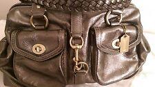 Coach Daphne metallic leather, large satchel bag pewter, Doctor style bag
