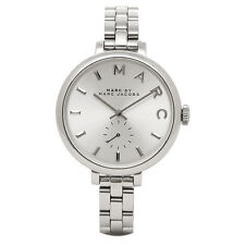 NEW MARC JACOBS MBM3362 SALLY SILVER STAINLESS STEEL SLIM STRAP WOMEN'S WATCH