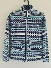 Talbots Womens Petites Fleece Sweater Jacket Size Small Front Zip Blue Purple