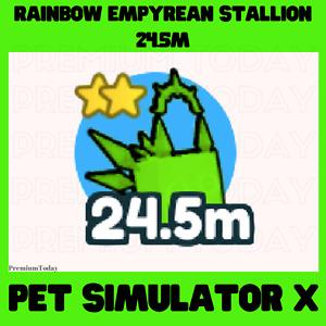 Rainbow Empyrean Stallion / Pet Simulator X / Roblox / New pet / Very strong